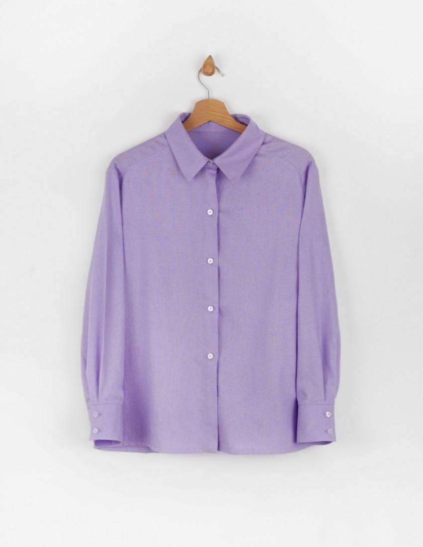 Рубашки льняные Мичи лавандовые
