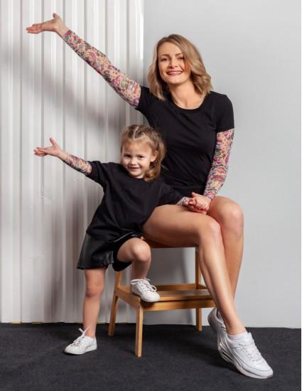 Футболки Дрейк с тату рукавами girl tattoo