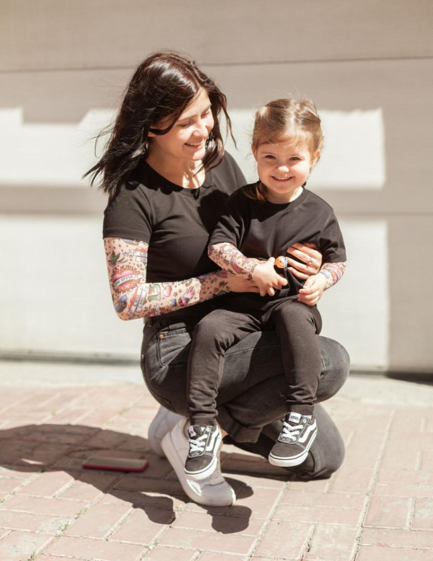 Футболки Дрейк с тату рукавами girl tattoo Summer wave