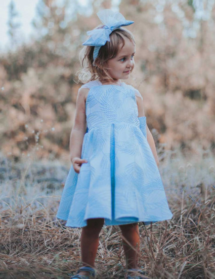 Платье Есения голубое