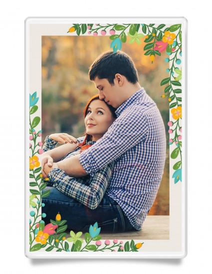 Магнит на холодильник Floral couple
