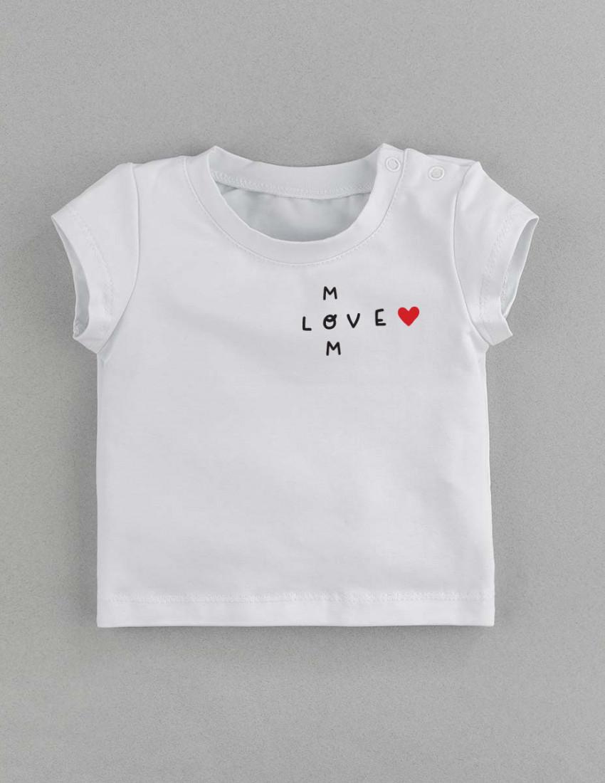 Футболка Classic белая Love Mom