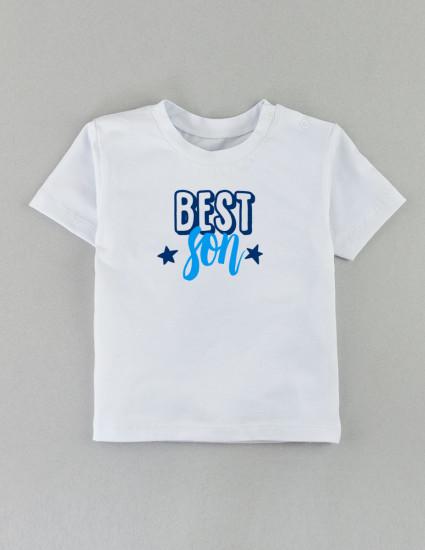 Футболка Овер белая Best son