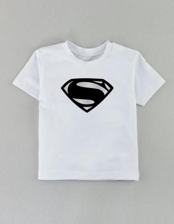 Футболка Овер белая Superman new