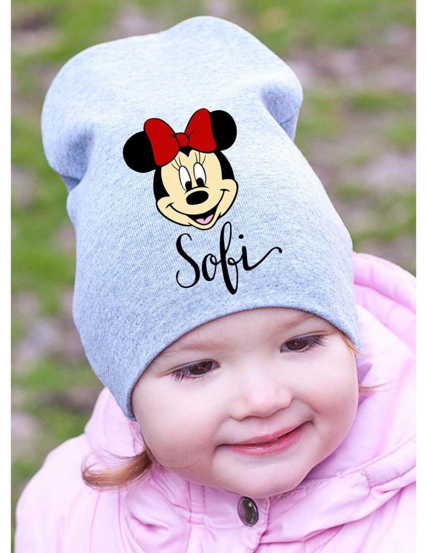 Шапка детская серая Cutie minnie