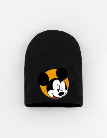 Шапка детская черная Mickey wink