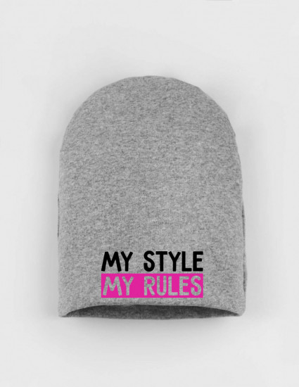 Шапка детская серая My style my rules