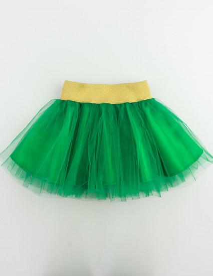 Юбка Ёлочка зелёная