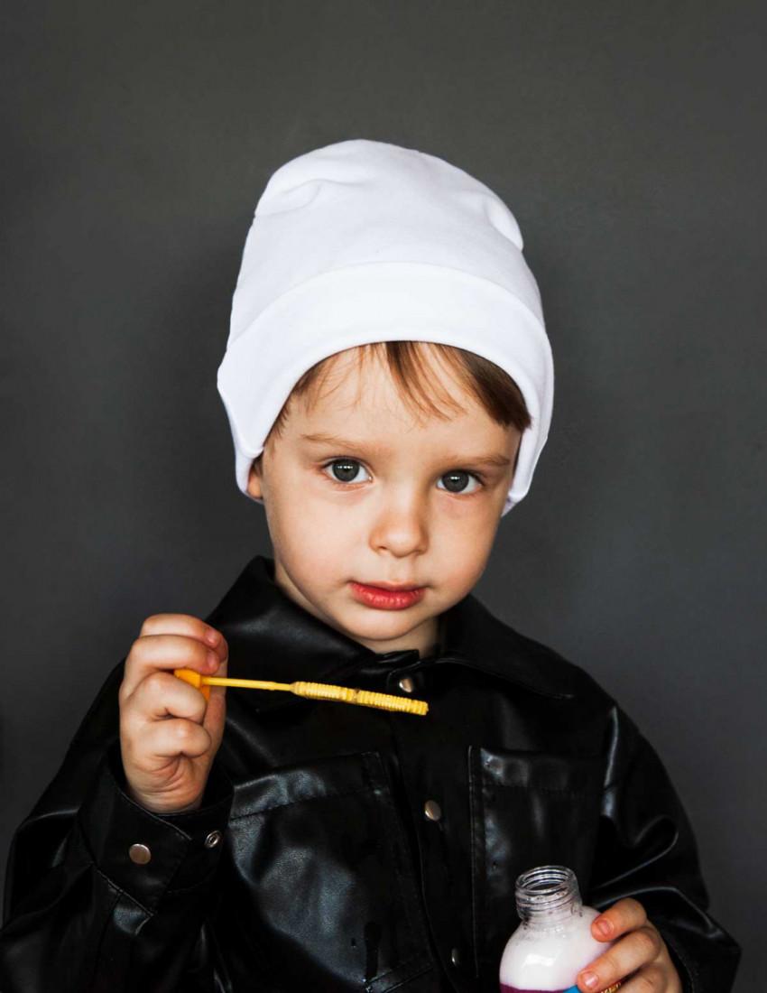 Шапка детская белая