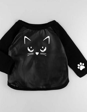 Джемпер Йорк черный Котя с лапками