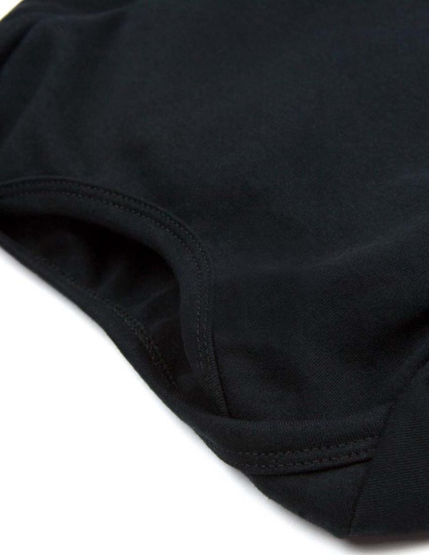 Боди черный с длинным рукавом Котя с лапками
