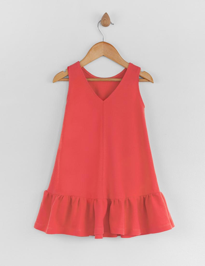 Платье Лейза коралловое