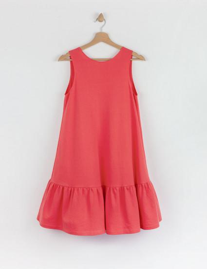 Платье Лейза женское коралловое