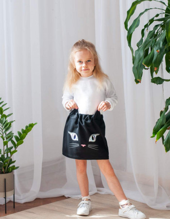 Юбка Мяури черная Kitty eyes