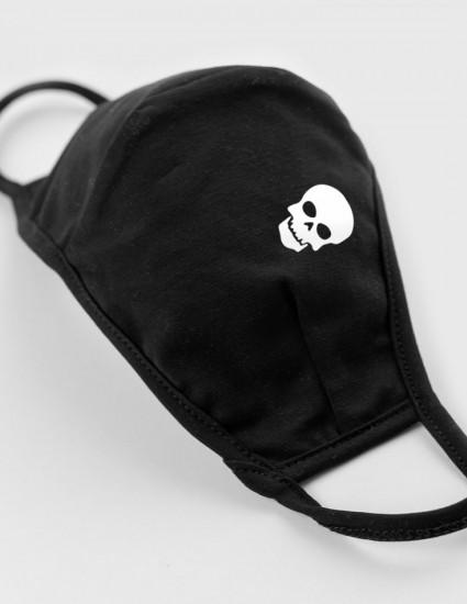 Маска многоразовая для взрослого Лимей черная Skull