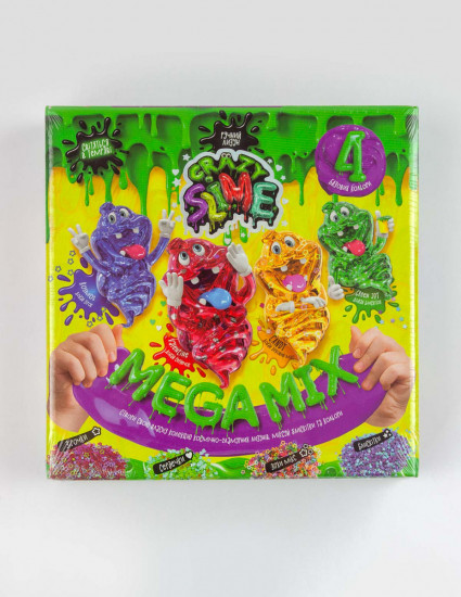 Зроби лизуна своїми руками 4 в 1 Crazy slime