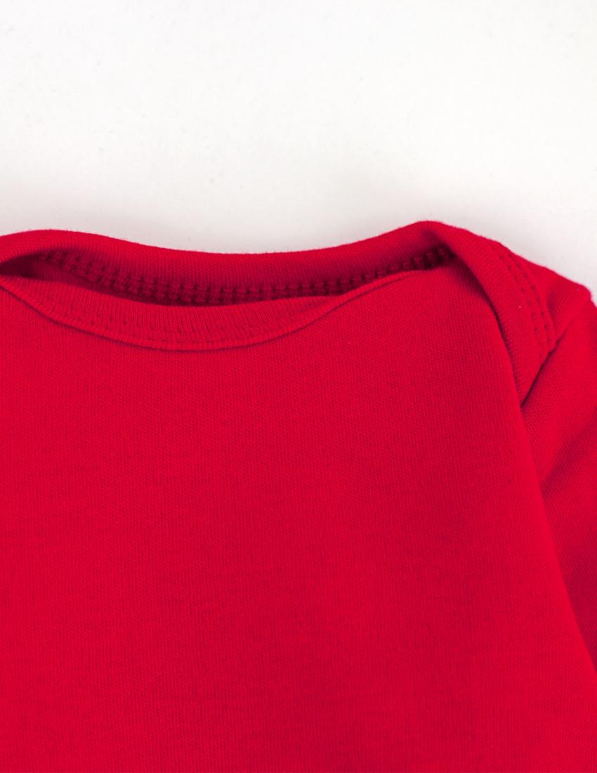 Боди красный с длинным рукавом