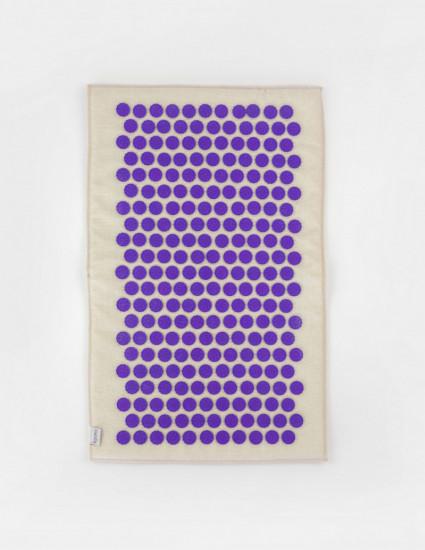 Коврик массажно-аккупунктурный с фиолетовыми фишками, 68х42 см