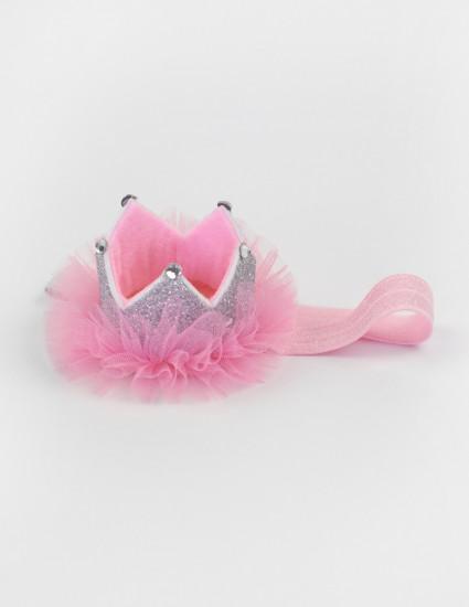 Корона Little Princess розовая