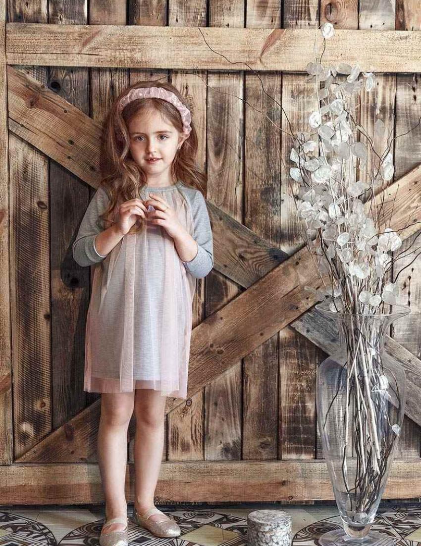 Платье Олинда серое