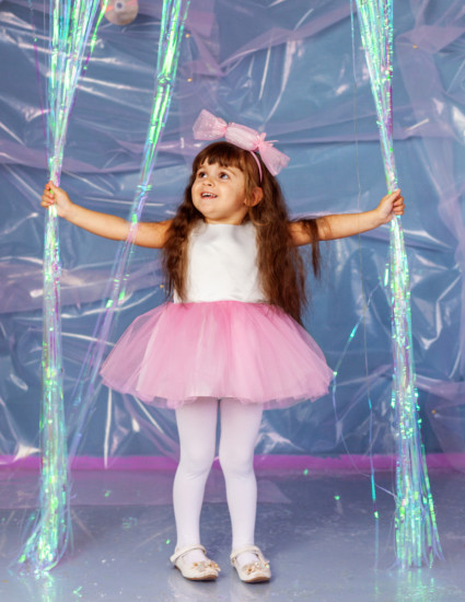 Платье Хлоя молочно-розовое