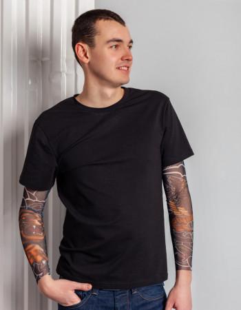 Футболка Дрейк с тату рукавами tatto art мужская