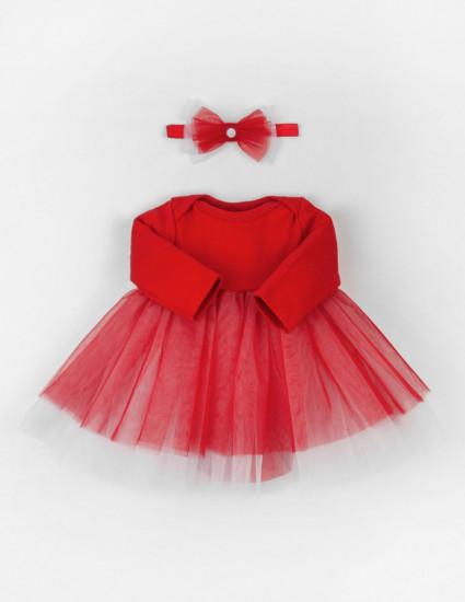 Платье-боди и аксессуар Sandy красный