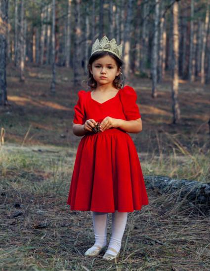 Платье Карамелла красное