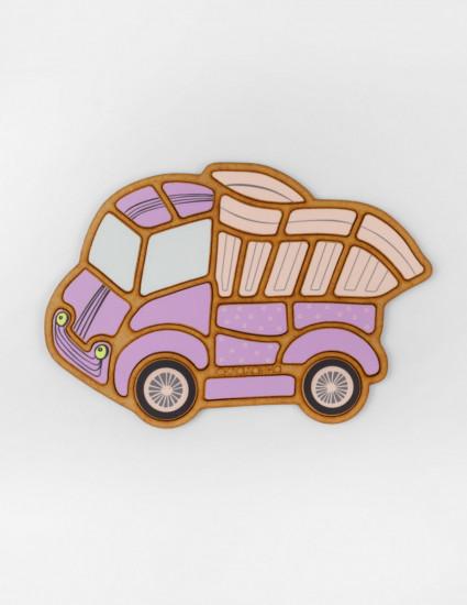 Пазл-складанка Вантажівка рожева