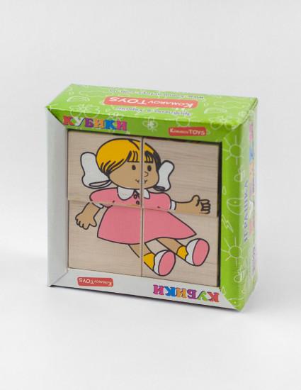 Развивающие кубики Игрушки, 6 картинок