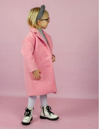 Пальто Берта розовое