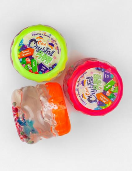 Лизун Crystal Slime з намистинками і паєтками, 400 грам, 1 шт