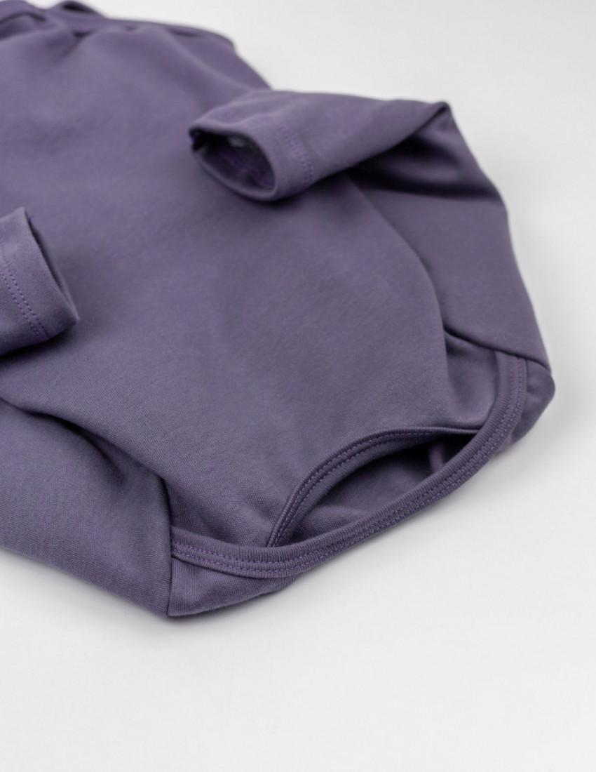 Боди с длинным рукавом фиолетовый