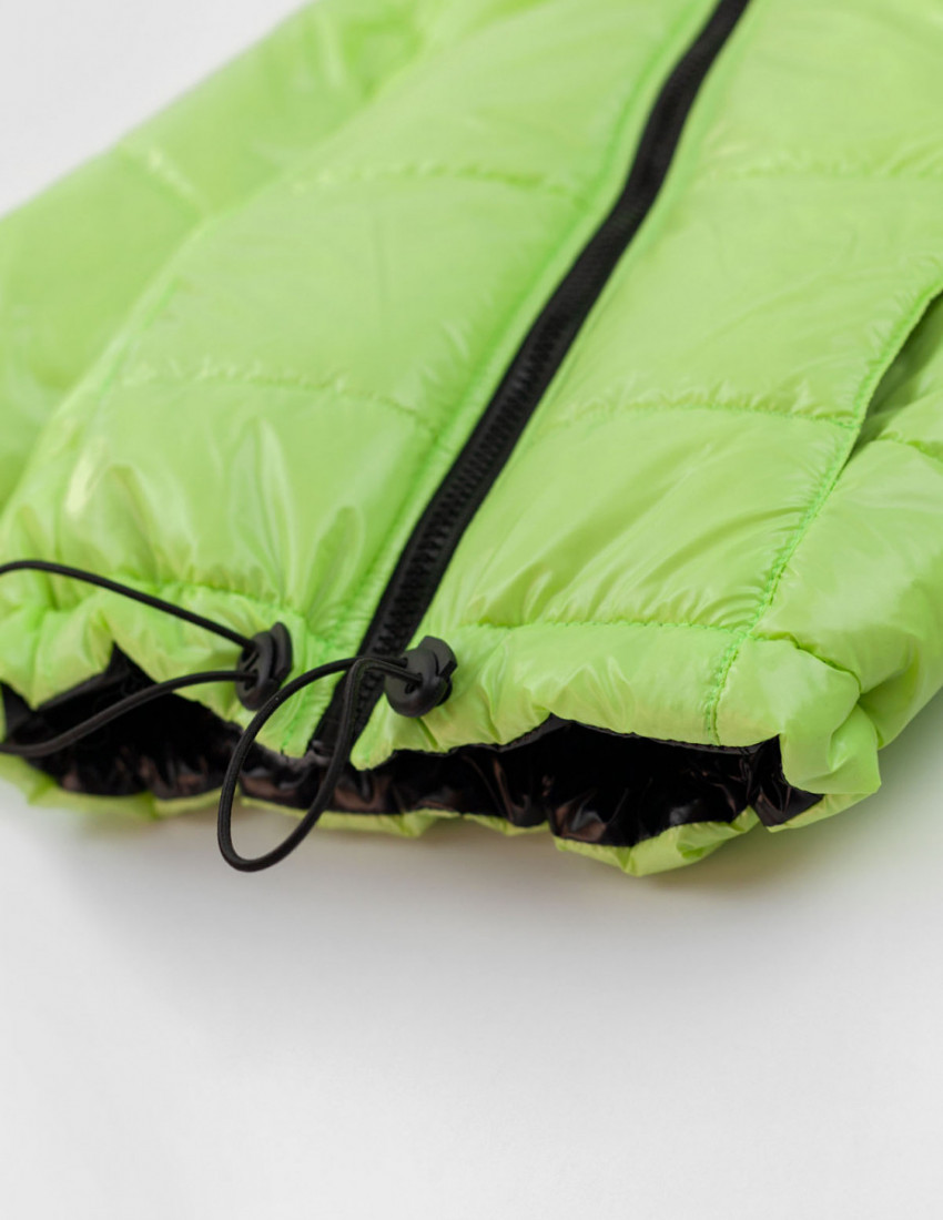 Куртка двухсторонняя Флойд салатовый/чёрный