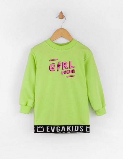 Свитшот Грэм салатовый Girl power