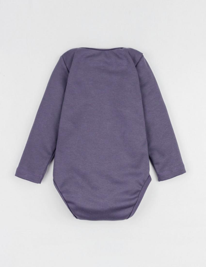 Боди с длинным рукавом фиолетовый MINI BOSS