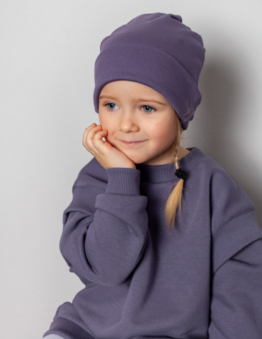 Шапка детская фиолетовая