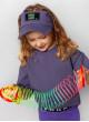 Повязка с козырьком Фабби фиолетовая