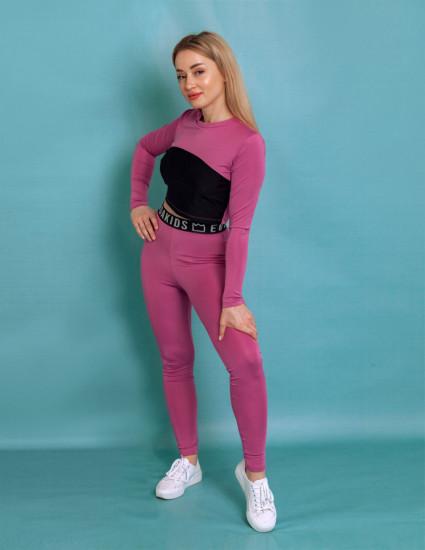 Спортивный женский костюм для фитнеса Флекс лиловый
