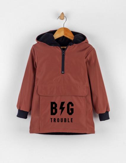 Куртка-анорак Барт терракотовая BIG TROUBLE