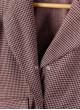 Жакет Синти в розово-чёрную клетку