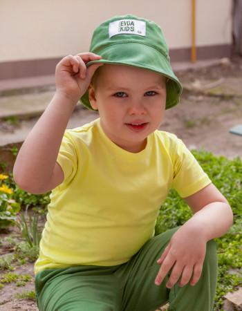Панамка льняная Ричард зелёная