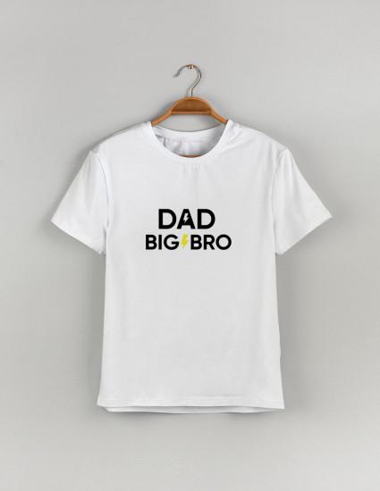 Футболка Classic мужская белая DAD BIG BRO
