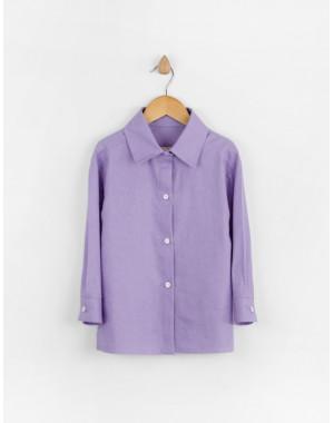 Рубашка льняная Мичи лавандовая