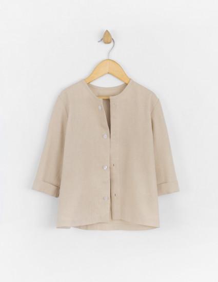 Рубашка льняная Фрэнсис бежевая