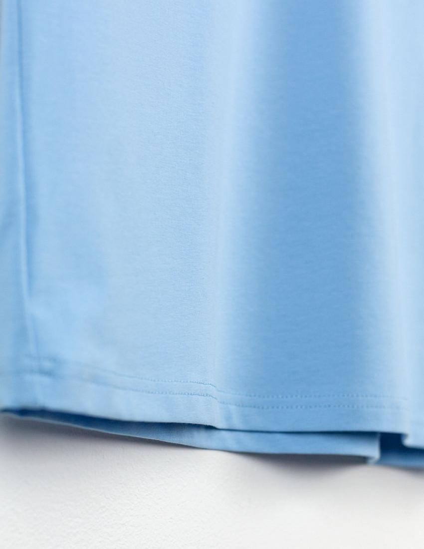 Футболка Овер для взрослого голубая РОМАШКИ ГЛАЗКИ