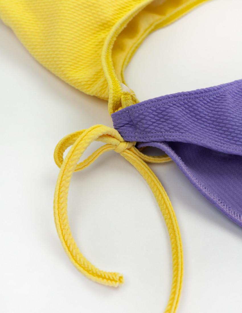 Купальник Эмбер лимонно-фиолетовый