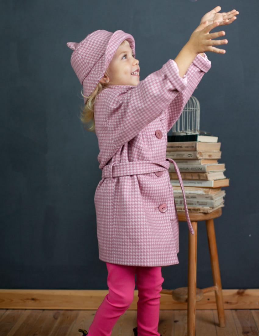Пальто Линда  розово-лиловое