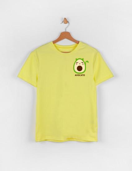 Футболка Овер для взрослого лимонная AVOCATO