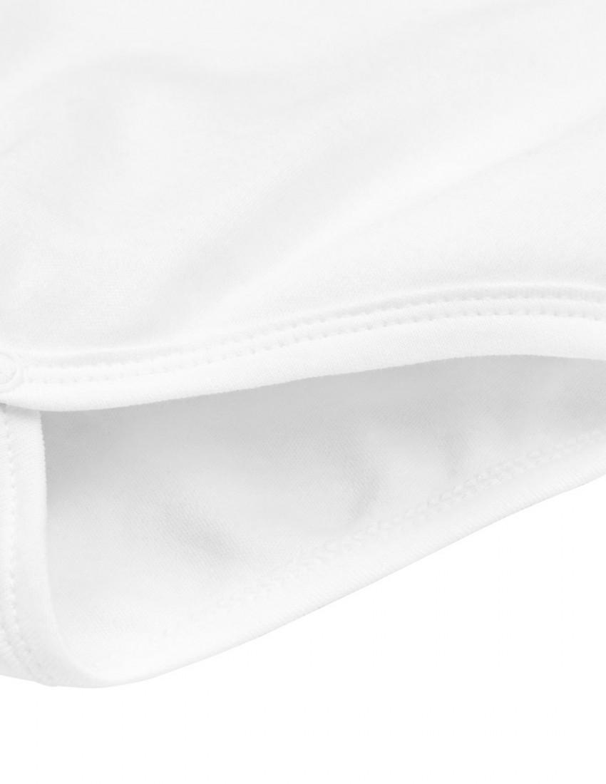 Боди белый с длинным рукавом LEO NAME